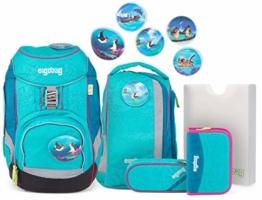 ERGOBAG ergobag Pack Set Kinder-Rucksack, 35 cm, 20 Liter, Hawaiian Turquoise - 1