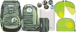 Ergobag Pack Super NinBär Schulrucksack-Set 6tlg + Sicherheitsset Grün - 1